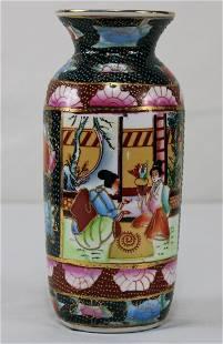 Chinese Black Geisha Girls and Flower Vase