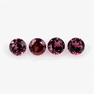 1.63 Ct Red Rhodolite Garnet Loose Gemstone 4 Pieces