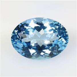 16.90 Ct Natural Blue Topaz Oval Cut