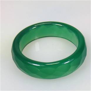 11.00 Ct Natural Onyx Round Ring