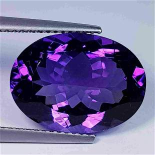 Nathural Amethyst Oval Cut 8.44 Ct