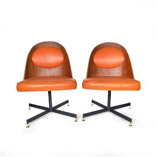 Pair of Mid Century Modern Bent Plywood Dining Chairs