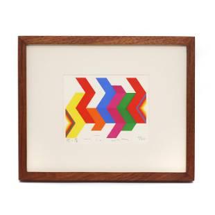 """Framed Fumio Tomita """"Walking Star"""" Serigraph"""