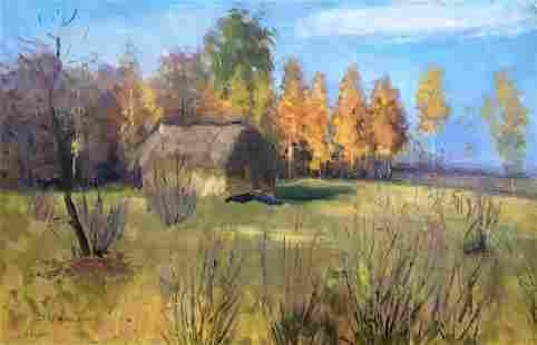 Oil painting Autumn landscape Tsyupka Ivan Kirillovich