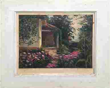 Oil painting Garden landscape Tsyupka Ivan Kirillovich
