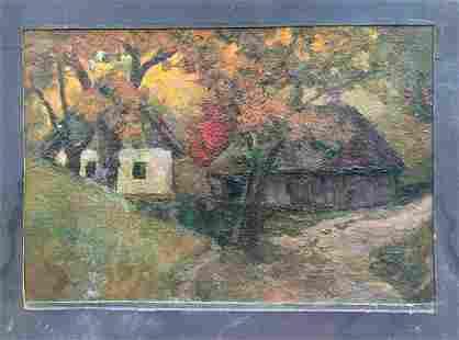 Oil painting Way home Tsyupka Ivan Kirillovich