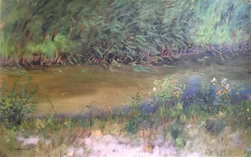 Oil painting Swamp Tsyupka Ivan Kirillovich