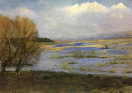 Oil painting Spring flood Tsyupka Ivan Kirillovich
