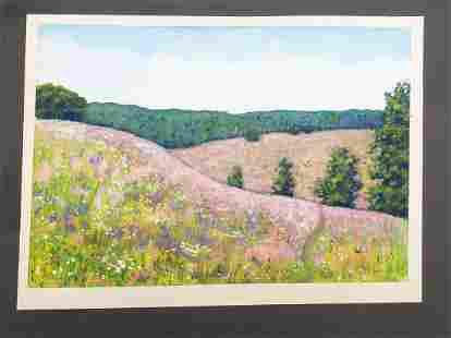 Watercolor painting Forest landscape Tsyupka Ivan