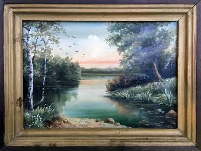 Oil painting Summer day Boroshnev M.