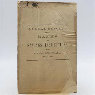 Annual Reports of the Several Banks and Savings