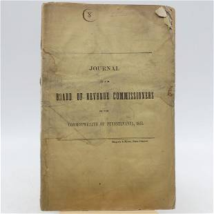 Journal Of the Board of Revenue Commissioners of the