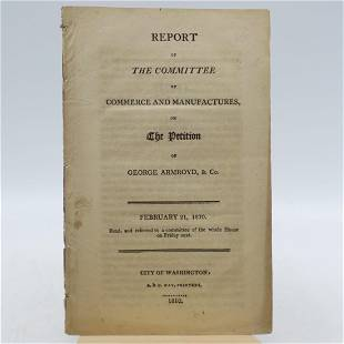 Report Of the Committee of Commerce & Manufactures, on