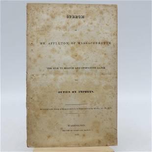 Speech Of Mr. Appleton, Of Massachusetts, On The Bill