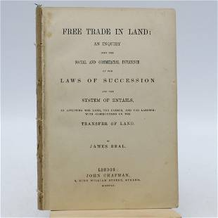 Free Trade in Land: an Inquiry into the Social and