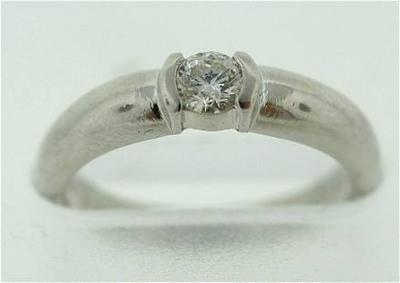 TIFFANY & CO. T&CO. PLATINUM ENGAGEMENT RING 0.21CTS
