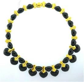 Marina B 18k Yellow Gold Jade Necklace