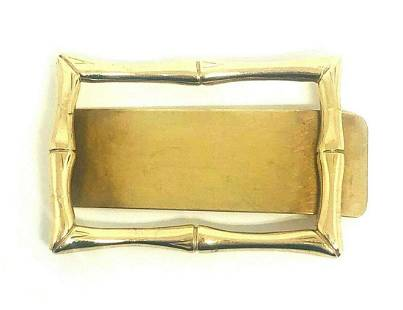 1960's Vintage TIFFANY & Co. 14K Yellow Gold Bamboo