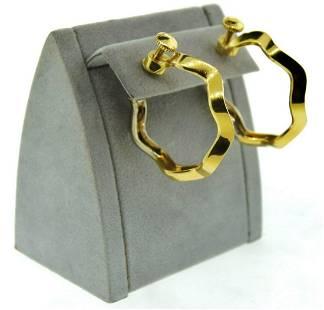 STUNNING Pomellato 18k Yellow & White Gold Earrings
