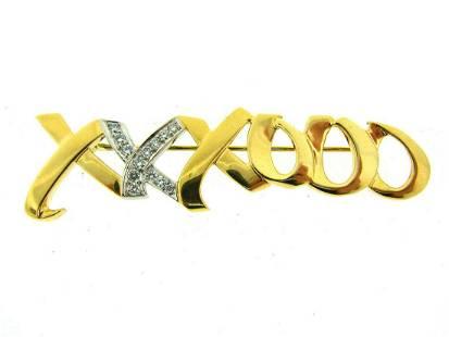 TIFFANY & CO. T&CO. ORIGINAL 18K YELLOW GOLD DIAMOND