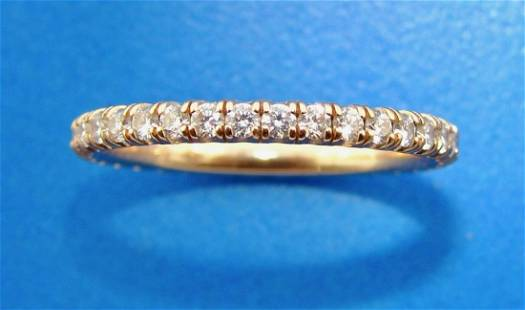 CLASSIC CHIC Cartier 18k Rose Gold Diamond Pave