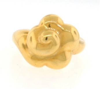 SUPER CUTE Marchak 18k Yellow Gold Camellia Ring