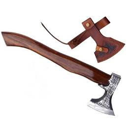 Viking axe everryday carry wood steel splitter tomahawk