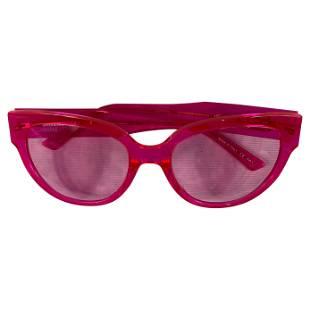 Balenciaga Pink Cat Eye Sunglasses