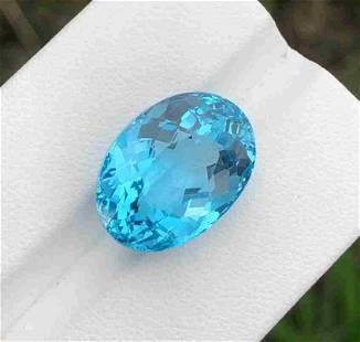 17 Carats Beautiful Swiss Blue Topaz ~ 17x12x9 MM