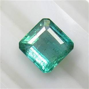 2.82 Ctw Natural Zambian Emerald Octagon Cut