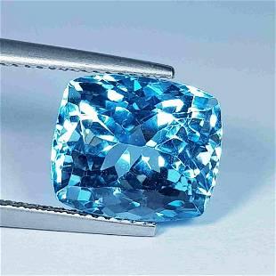8.55 Ct AAA Grade Gem Octagon Cut Natural Blue Topaz