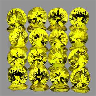 2.20 mm 20 pcs Round Diamond Cut Best AAA Canary Yellow