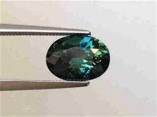 Natural Sapphire 0.65ct Oval Bluish Green VVS