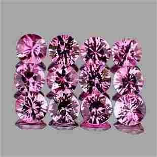 2.50 mm 12 pcs Round Diamond Cut AAA Fire Natural Pink