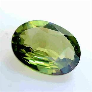 1.81 Cts Unheated Green Sapphire