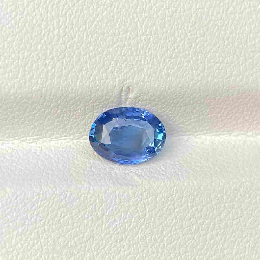 Natural Unheated Blue Sapphire 1.65 Cts Oval Cut Loose
