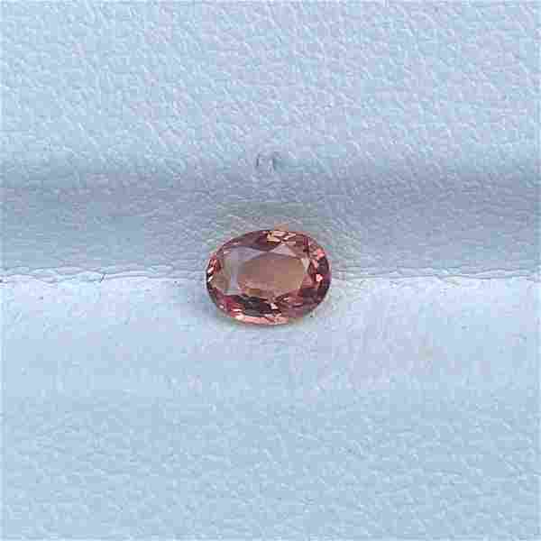 Natural Unheated Padparadscha Sapphire 0.73 Oval Cut
