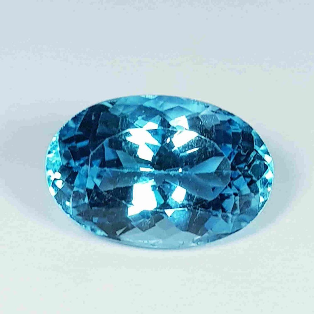 9.75 Ct Top Quality Gem Oval Cut Natural Blue Topaz