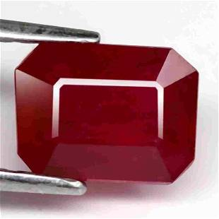 2.4 Ct. Ruby Natural Octagon Facet Top Blood Red