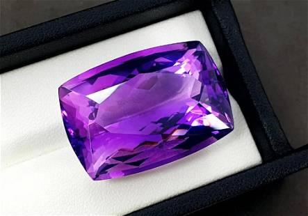 Amethyst, 61.50 Carats Natural Top Color Fancy Cut