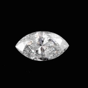 0.67 Carat H Color Natural Marquise Diamond 1 Piece