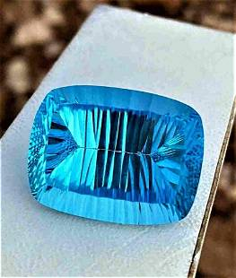 Cushion Cut Laser Blue Topaz - 60.85 Carats