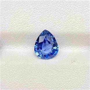 Natural Blue Sapphire 2.24 Cts Pear Cut Sri Lanka Loose
