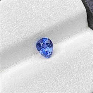 Natural Blue Sapphire 1.17 Cts Pear Cut Sri Lanka Loose