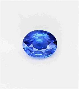 Blue Sapphire Unheated Certified - 1.22 ct