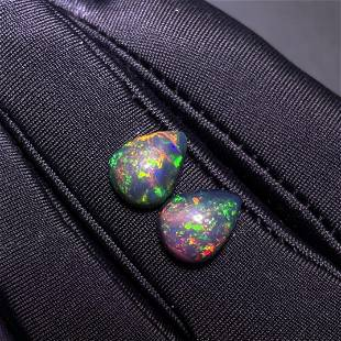 Natural Oval Cut 5.0Carats Opal Loose Gemstone 2 pac