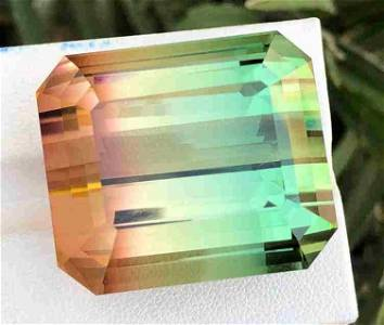 130 Carats Brillint Bio Color Tourmaline from