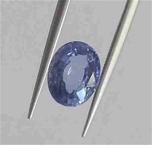 Natural Blue Sapphire IGI Report Unheated 2,51 ct