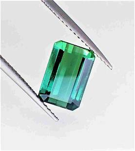 Green Blue Tourmaline - 3.50 ct