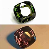 GIA / GRS Certified 9.08 Cts Natural Green to Purple